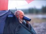 Wolfgang: bei dem Regen geh ich nicht vors Zelt