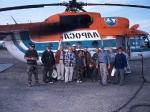 Teilnehmer vor dem Abflug in Aichal