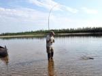 …mit der Nymphe auf sibirische Forellen…