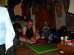 Unser Hütte im Dorf Patom