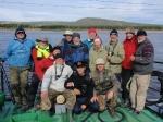 Teilnehmer und Besatzung auf der Lena