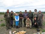Die Teilnehmer mit der Besatzung der Metrolog.-Station